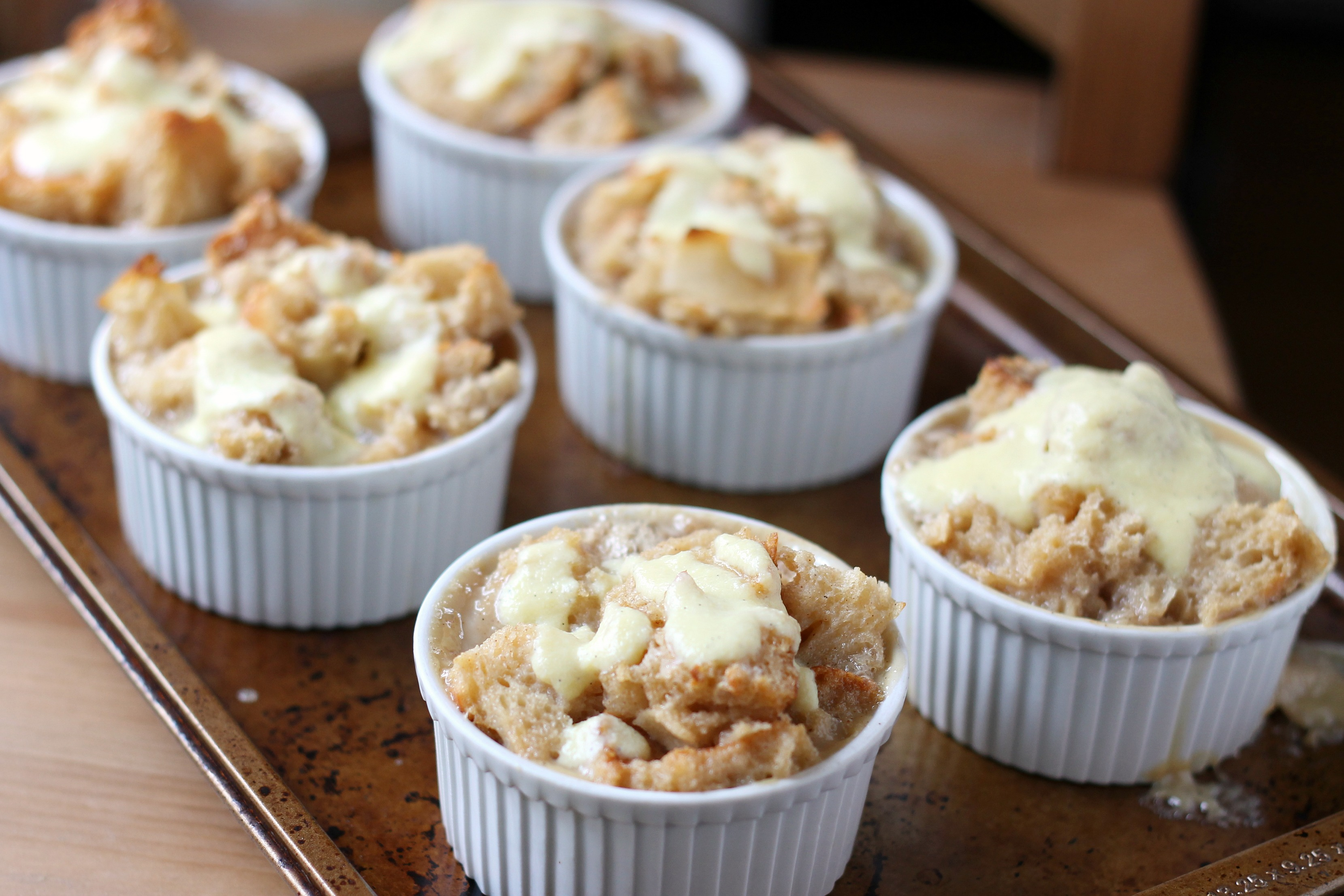 Bread Pudding with Vanilla Custard Sauce   We Like Two Cook