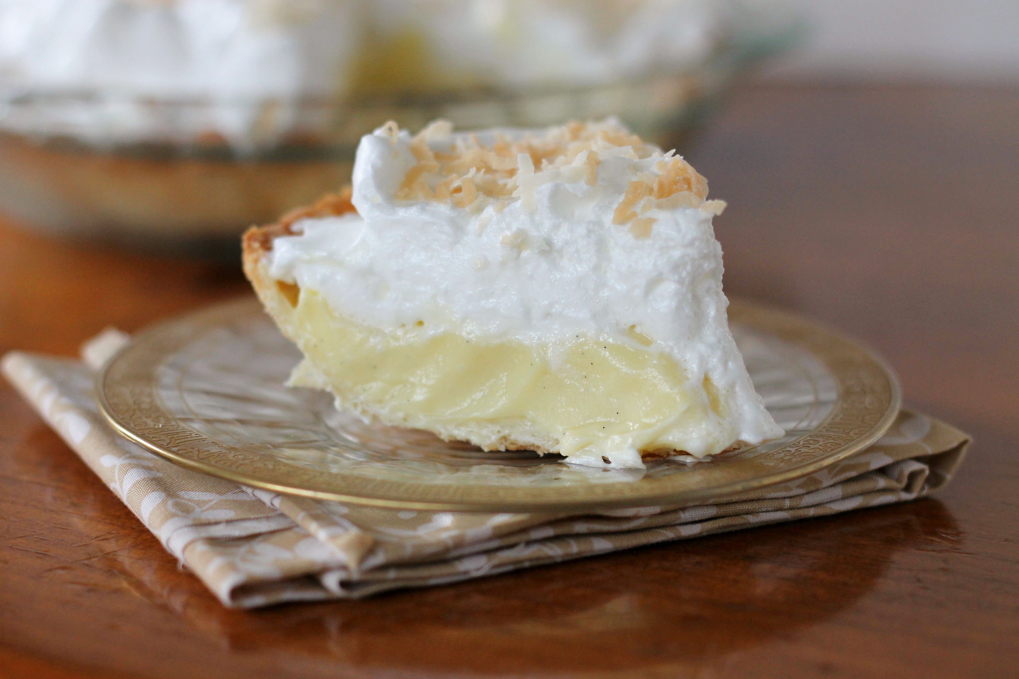 Coconut Cream Pie | We Like Two Cook