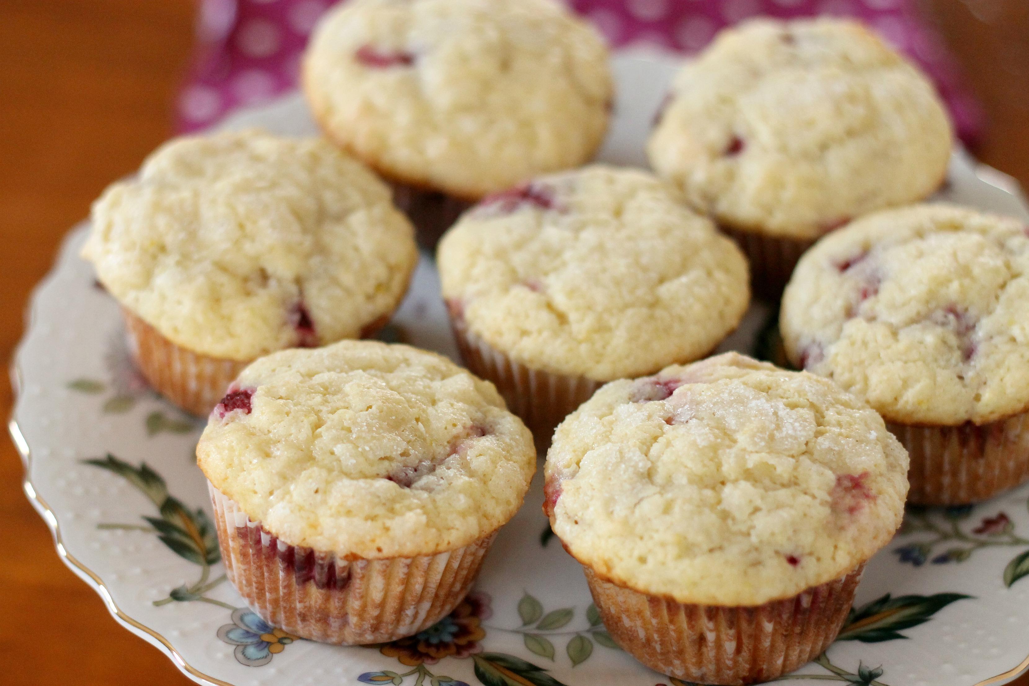 Lemon Raspberry Ricotta Muffins | We Like Two Cook