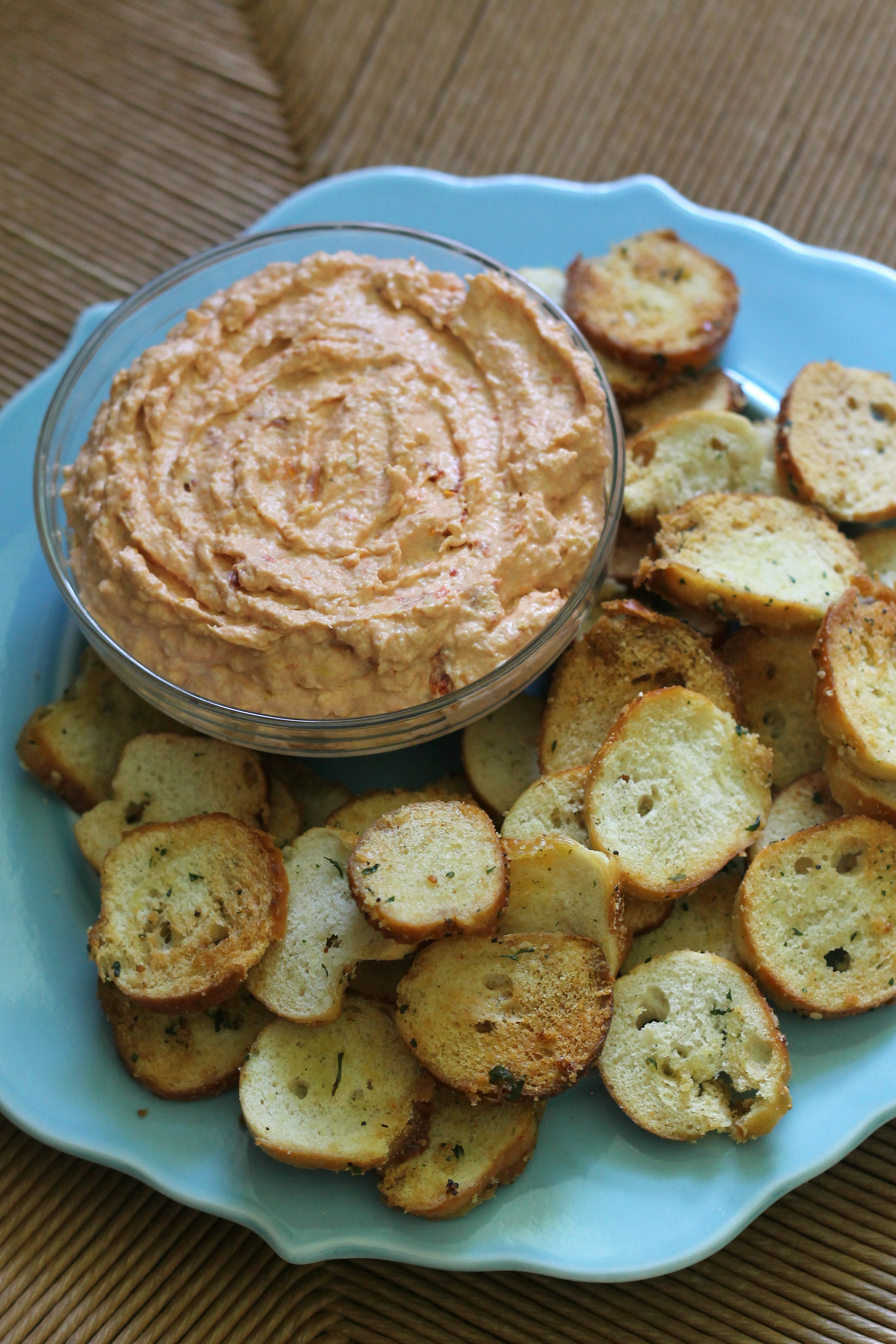 Sun Dried Tomato and Artichoke Dip with Homemade Bagel Chips | We Like ...