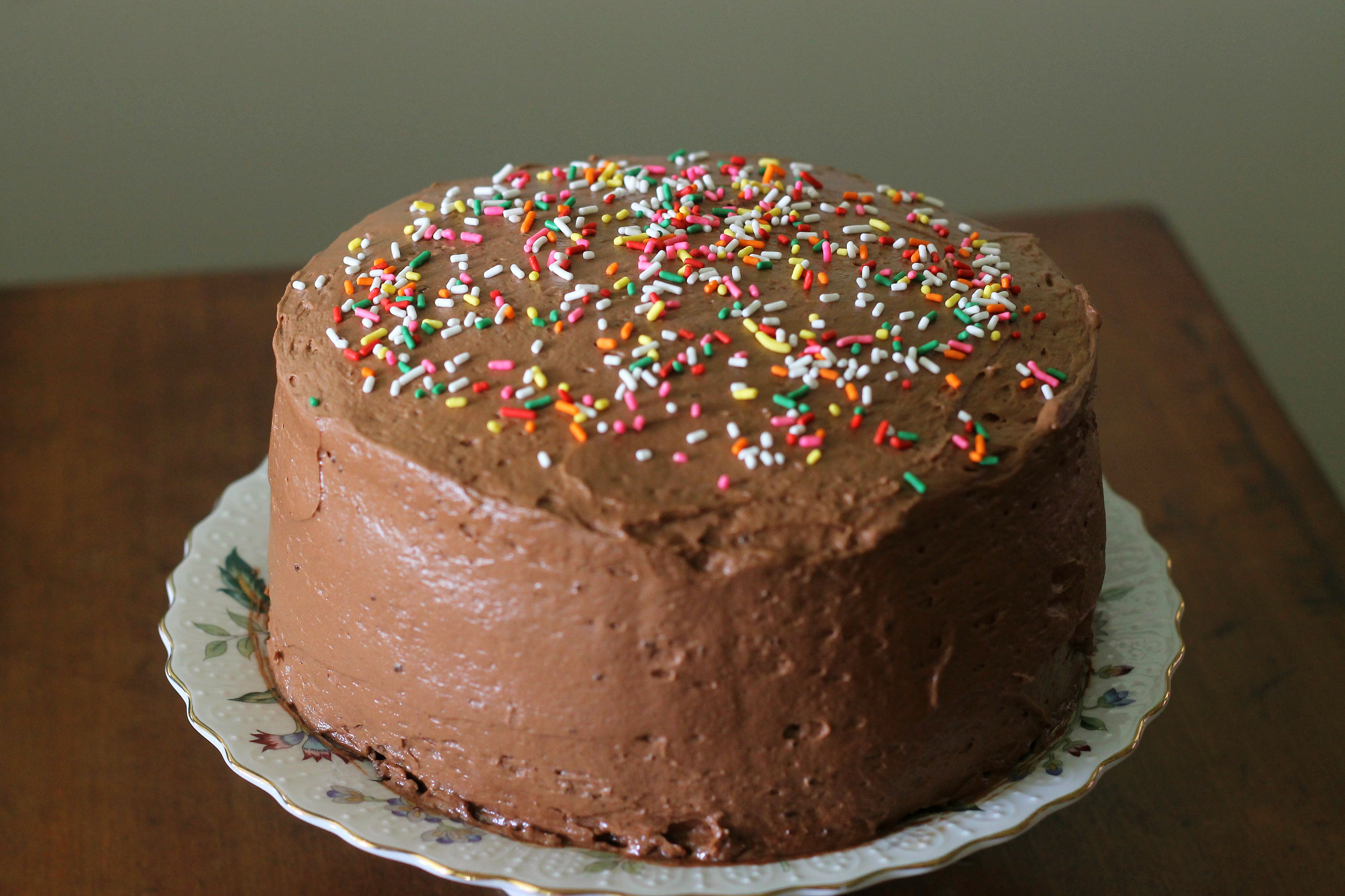 Dark Chocolate Cake with Malted Chocolate Frosting and ...