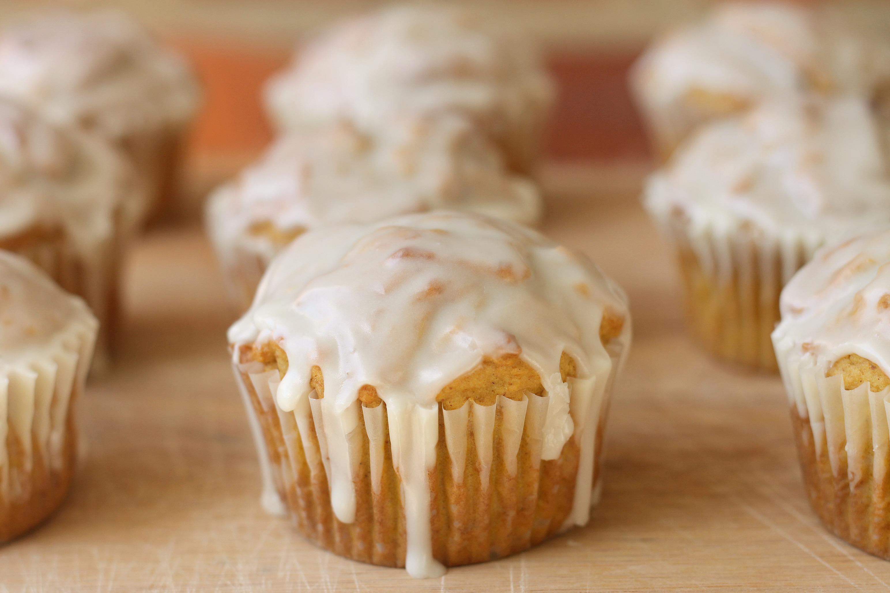 Glazed Pumpkin Doughnut Muffins – We Like Two Cook