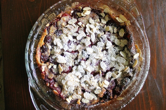 Cherry Almond Dutch Baby