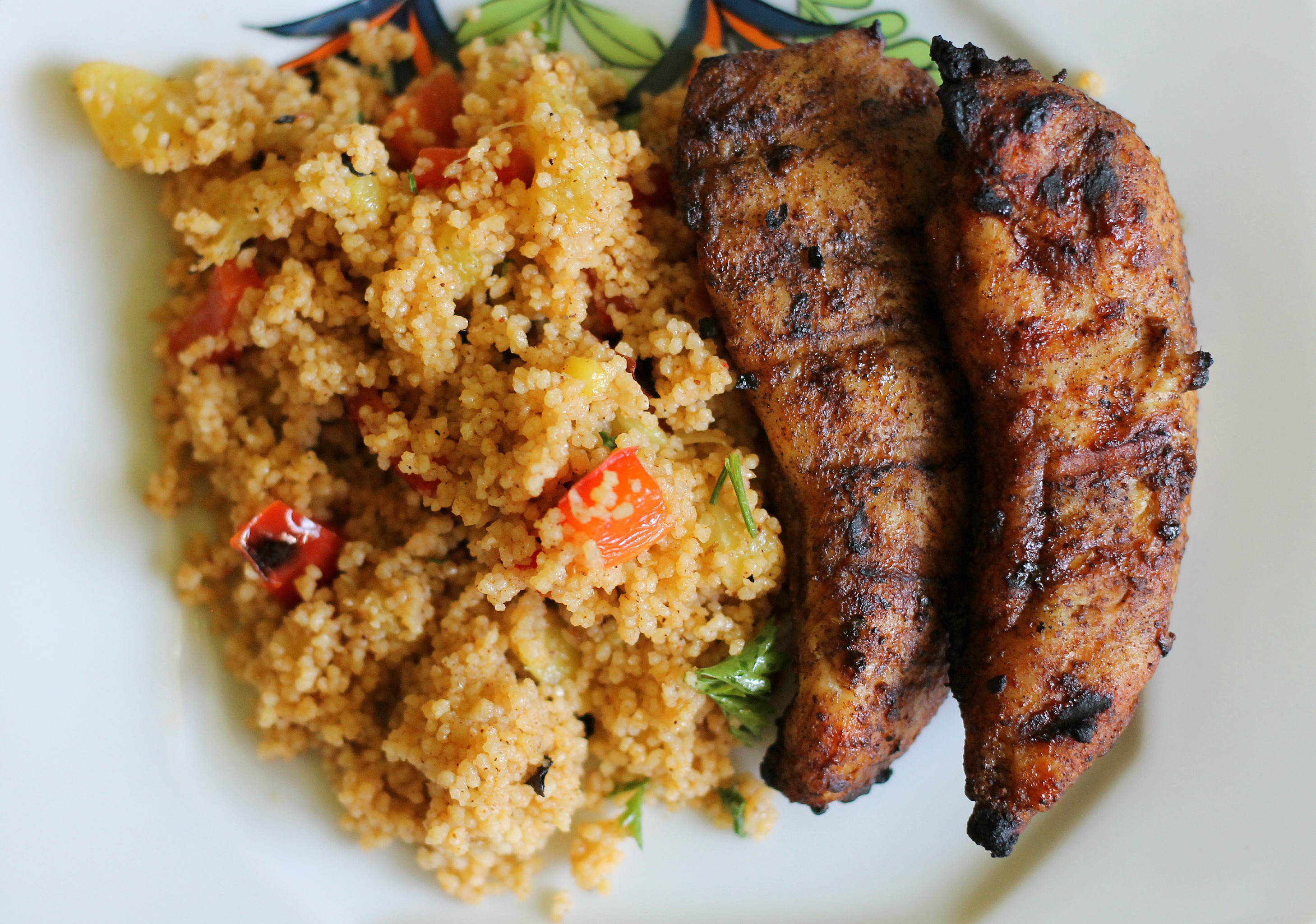 Grilled Caribbean Chicken with Couscous Salad – We Like ...