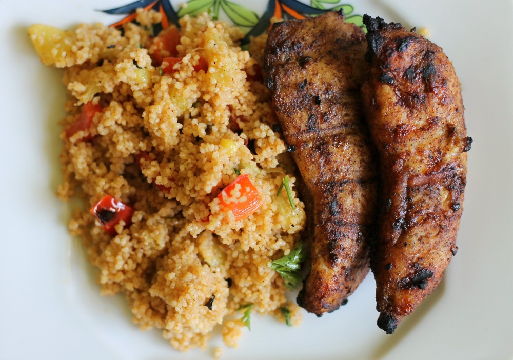 Grilled Caribbean Chicken with Couscous